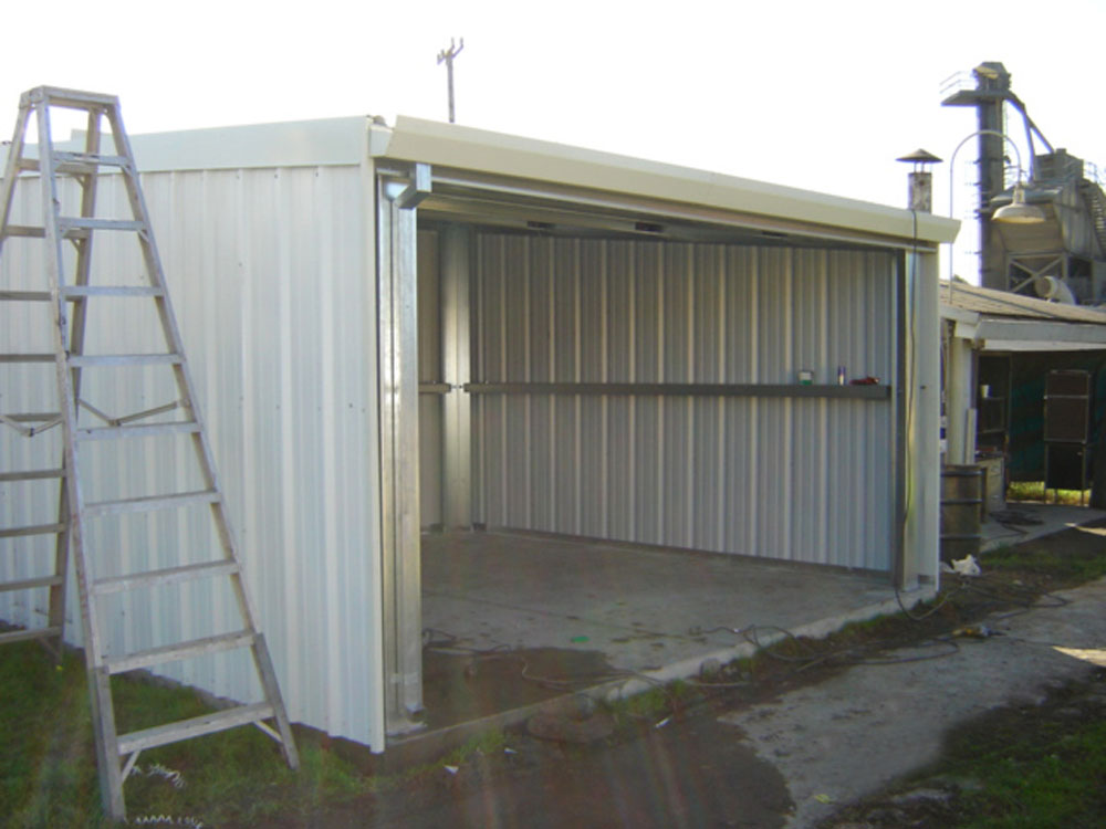Woodworking equipment auctions building a metal shed run for Steel shed plans free