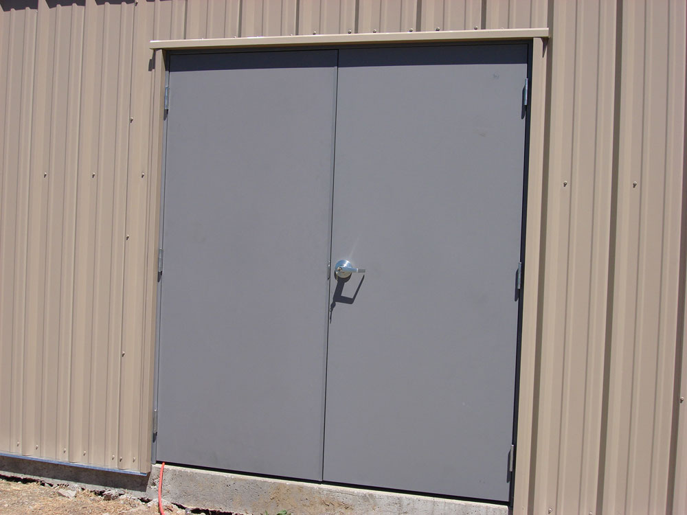 Metal Door on Pre-Engineered Building