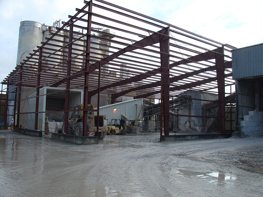 Pre-Engineered Steel Building Framing