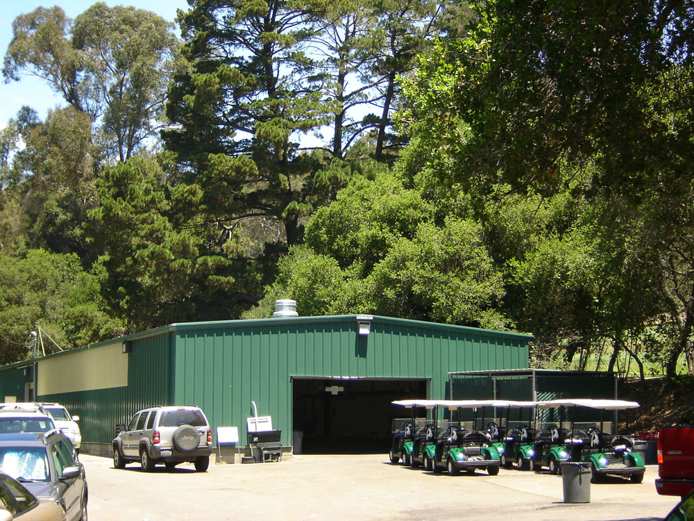 Country Club metal storage building