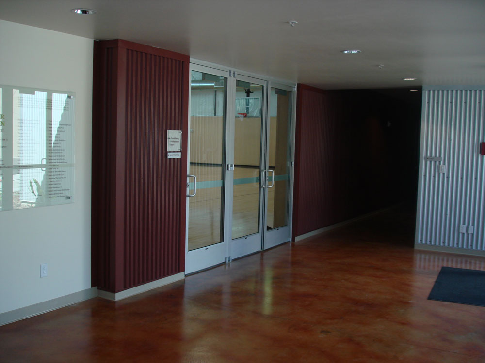 Metal Siding Application Indoors