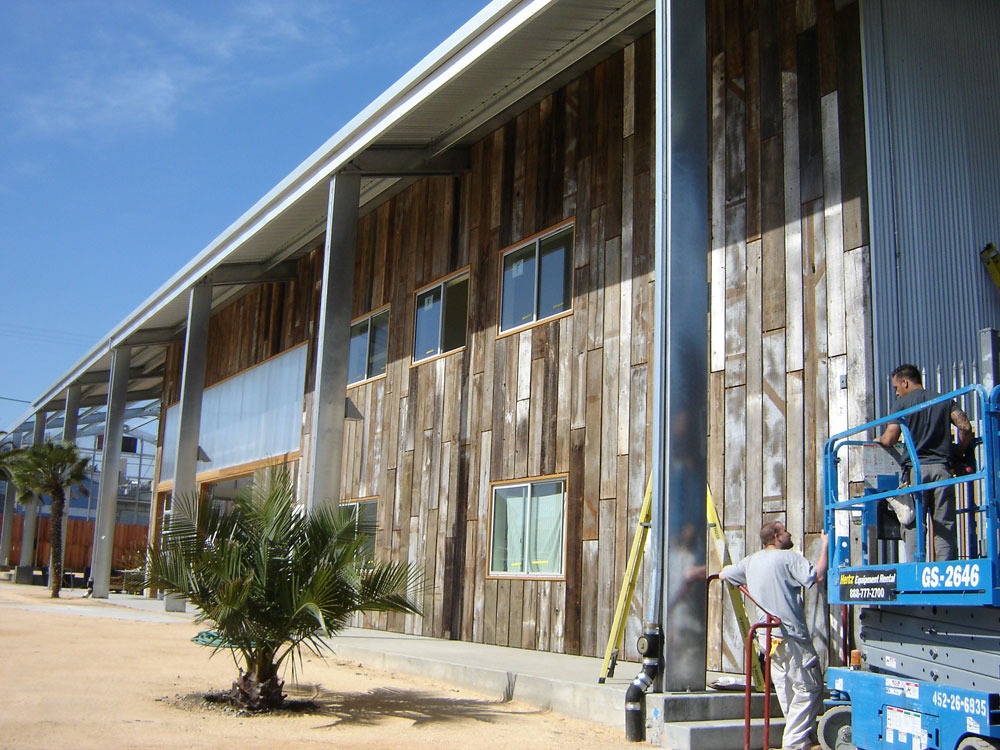 Pre-Engineered Steel Building During Installation