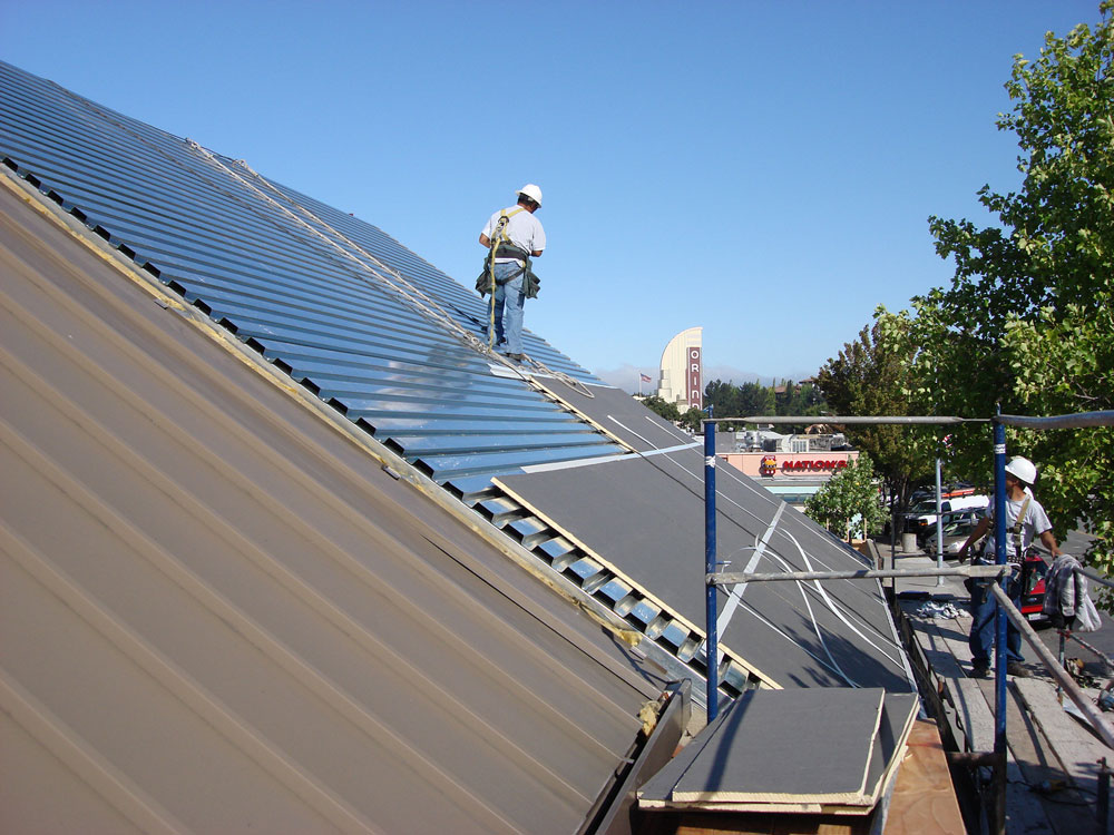 Steep Metal Roof Install