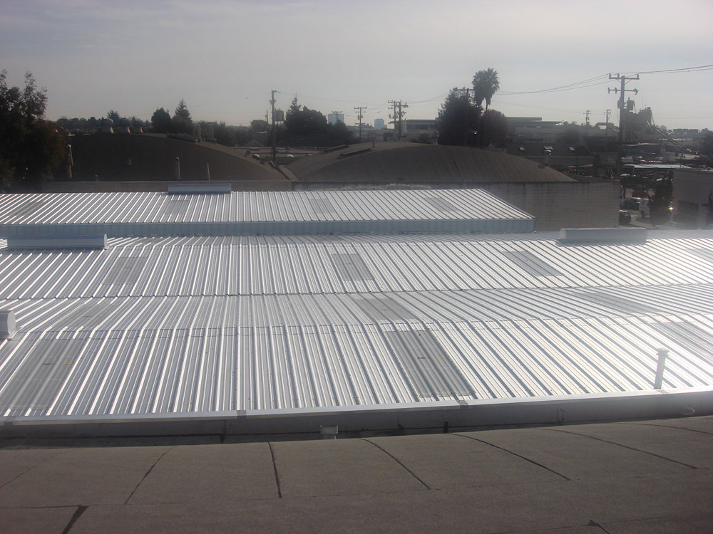 Metal Roofing Material Installed